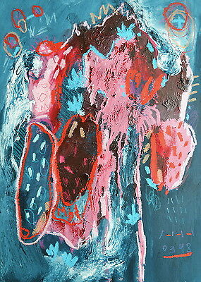 """SUPERB NEW ORIGINAL VALERIE SAVCHITS """"Suffocation XXII"""" ABSTRACT ART PAINTING"""