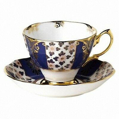 Royal Albert Regency Blue TeaCup & Saucer Ex display