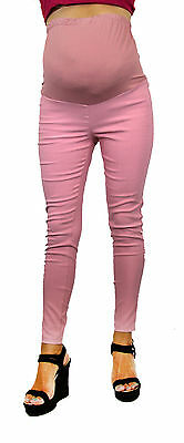 Solid Skinny Work Attire Womens Maternity Bottoms New Pregnancy High Waisted