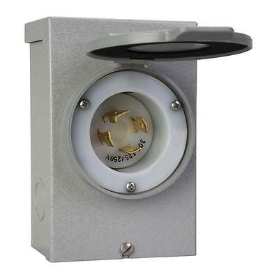 30 AMP Power Inlet Box to connect generator to transfer device for backup power