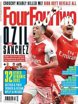 Four Four Two (Mens Football Magazine) Ozil and Sanchez cover - February 2017