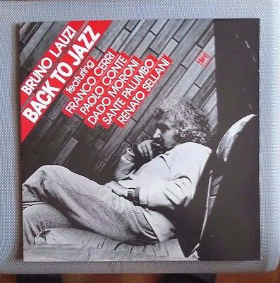 Bruno Lauzi - Back To Jazz - Lp Dire Fo 377  Italy 1985  -  New Gatefold First