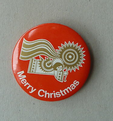 Merry Christmas Angel Lapel Hat Button