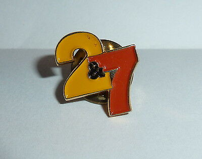 Calgary Channel 2 & 7 TV Television Station Vintage 1980's Lapel Hat Pin