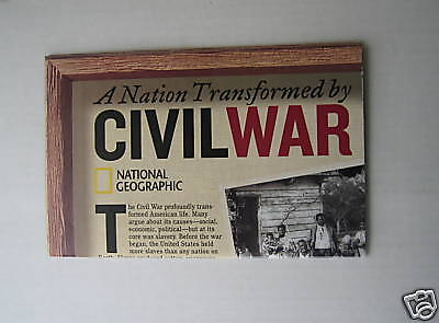 Civil War Map  National Geographic  Feb 2005 US History MAP