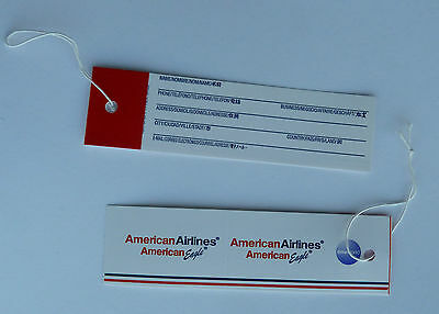 American Airlines Luggage Bag Name Tags Lot of (2) Tags NEW