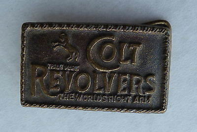 Colt Revolvers The Worlds Right Arm Belt Buckle