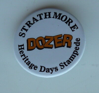 Strathmore Alberta Rodeo Canada Dozer Heritage Days Stampede Lapel Button