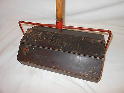 Vintage Wood Bissell Crown Jewel No. 2 Wooden Floor Sweeper Vacuum