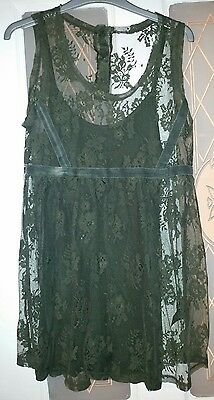 Ladies Xmas Party Lace Maternity Tunic Top Size 14 Next