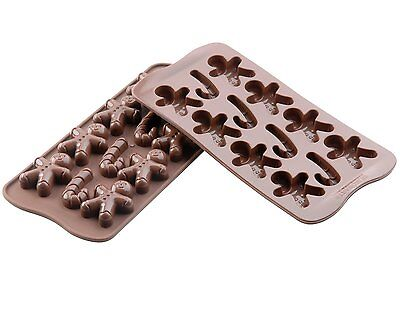 Christmas Xmas Chocolate Silicone Moulds - set of 2!