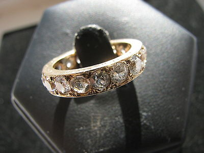9ct Gold full Eternity Ring with white stones - Spinel or Sapphire?