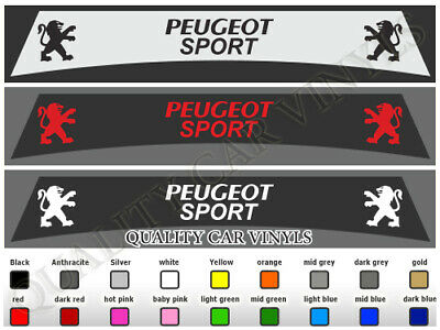 Peugeot Sport Sunstrips 205 206 207 208 307 308 Graphics Decal Stickers Su119