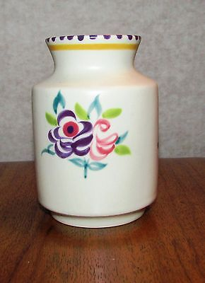 Collectable Poole Pottery Vase with Flower Pattern