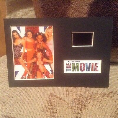 Spice girls spiceworld the movie 6x4 film cell display