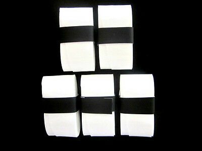 5 White Replacement Overgrips over grip tennis Wilson Babolat Prince Head