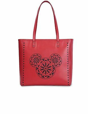 Mickey Mouse Icon Laser Cut Red Tote Vera Bradley Disney Parks Purse Bag New