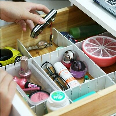 Necessities Household Storage Organizer Plastic Drawer Separator  Divider Grid