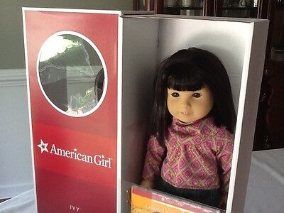 """American Girl Ivy Doll and Book Retired Julie's Friend 18"""" New in box!"""