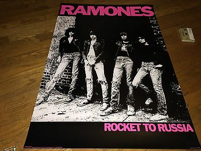 """Ramones """"Rocket to Russia"""" UK import POSTER[2005 reissue]thicker quality!"""