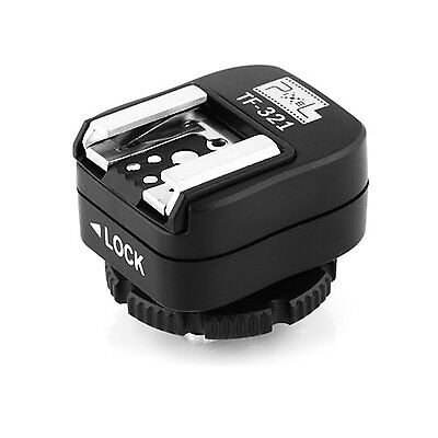 Pixel e-TTL Flash Hot Shoe Adapter with Extra PC Sync Port for Canon DSLRs