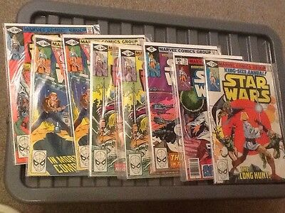 Marvel Star Wars Comics From 1979 Including issue #1
