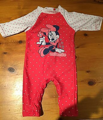 baby girl Minnie Mouse swimsuit 3-6 months