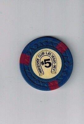 $5 Las Vegas HORSESHOE  CLUB Casino Chip from live game