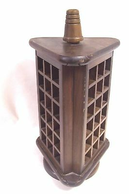 Thimble Wooden Swivel Display Holds 54 Thimbles Thimble Top
