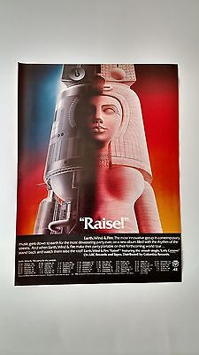 "Earth,wind & Fire    ""raise""  (1981)  Rare Original Print Promo Poster Ad"