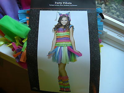 NEW Girl's Pinata Costume LARGE L 12 14 PARTY DRESS