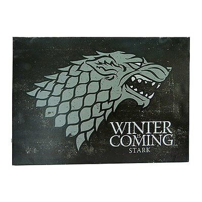 Game of Thrones New * Stark Canvas Sigil Banner * 18 x 13 Fabric Poster Print