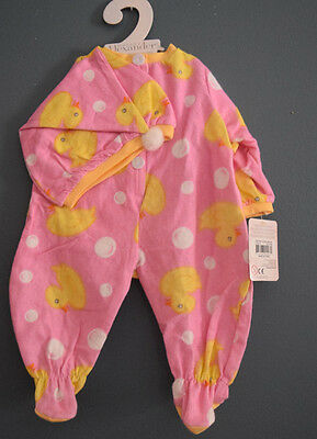 Lee Middleton Pink Duck Sleeper and Cap! Just too cute!! Brand New with Tags!