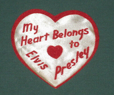 Elvis Presley EPE Iron On Patch Emblem My Heart Belongs RARE 1956 Red