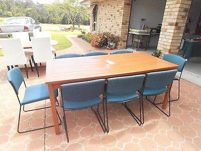 OUTDOOR TABLE and 9 stacker Cairs