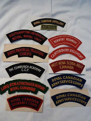 12 Canadian Military Forces Air Force & Army Rocker Patches Hard to Find n USA
