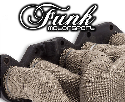 Funk Motorsport Cool Titanium Lava Rock Exhaust Heat Wrap 50mm x 15m Performance