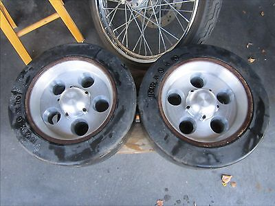 Lil John Buttera Made Forklift Billet Wheels With Maine Tires As Shown For Clark