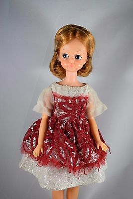 Japanese Exclusive Scarlet Tammy doll red lace and silver lame dress rare