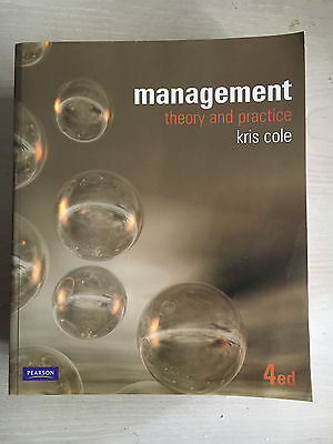 Management Theory and Practice by Kris Cole - 4th edition