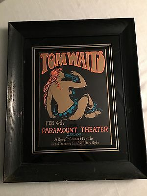 Framed Tom Waits Stanley Mouse Poster/Paramount Theater Oakland Rare & Gorgeous