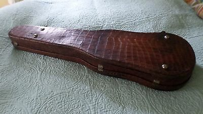 alligator case with rigart robus 1850 petersburg violin -