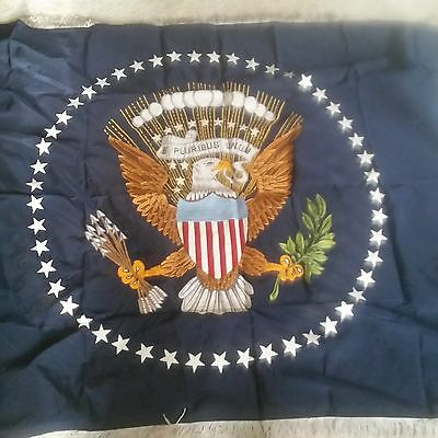Extremely Rare Embroidered White House Presidential Flag - Carter Administr