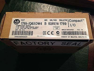 AB PLC CompactLogix 1769-IQ6XOW4 Output Module New In Box with Factory Seal