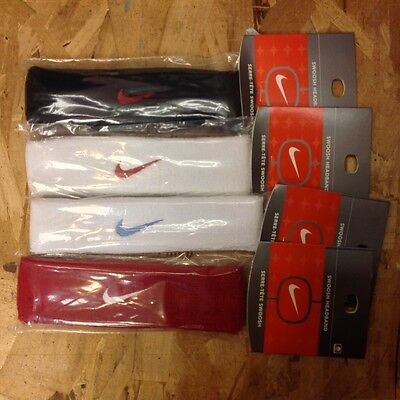 [Ac0038] Nike Swoosh Headband Vintage Sweatband From The 90's Assorted Colors