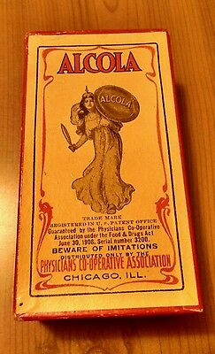 1906 Alcola Edward Rice Burroughs Quackery Item Rare Unused Historical Piece A+