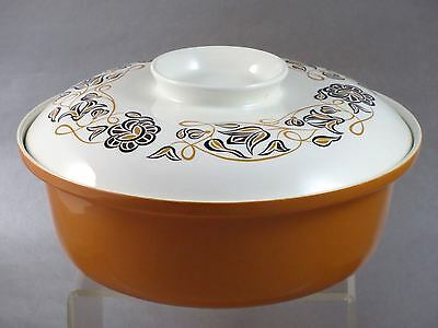 """1960s Modern POOLE POTTERY """"DESERT SONG"""" 3.5 Quart ROUND COVERED VEGETABLE DISH"""