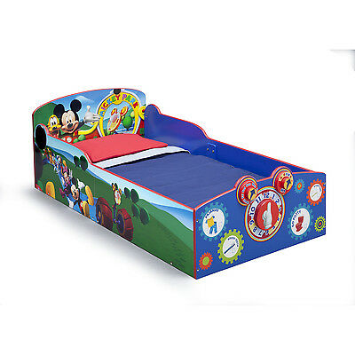 FACTORY NEW Delta Children Interactive Wood Toddler Bed, Disney Mickey Mouse