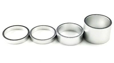 "1"" Alloy Bike Headset Spacer Kit,Headset Spacers 4PCS( 20mm-10mm-5mm-5mm),Silver"