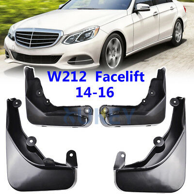 Set For Benz E Class W212 2014-2016 Mudflaps Mud Flaps Splash Guards Mudguards